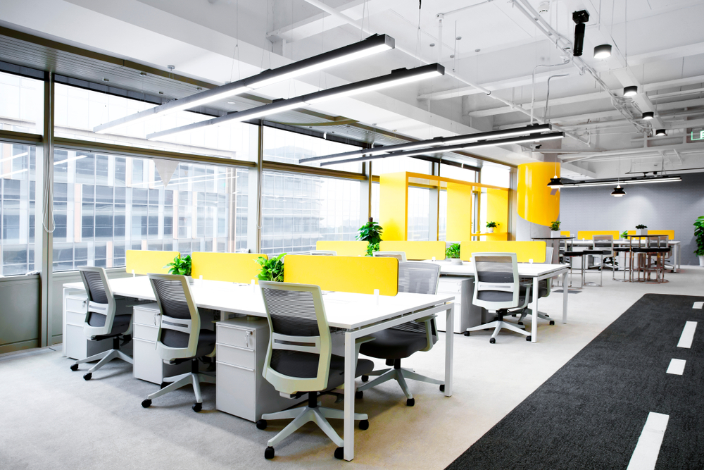 office decotraed and painted to increase office productivity